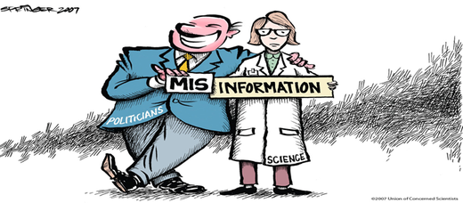 Misinformation - scientist and politicains