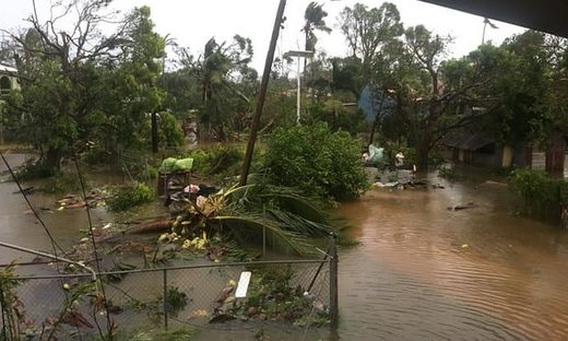 The aftermath of cyclone Gita is seen in Nuku'alofa, Tonga