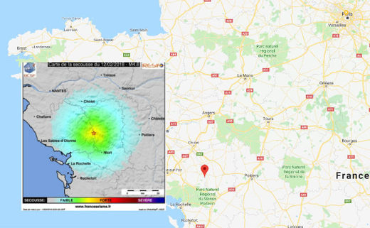 M4.8 earthquake in France