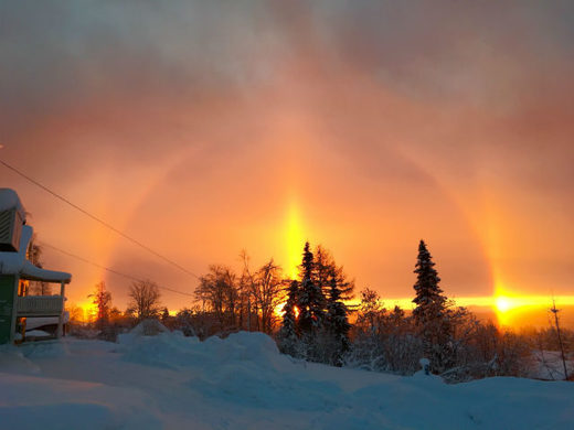 Sun halo over Sweden