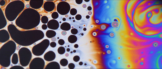 'In a kitchen far far away...' (The fluid instability patterns on top of a soap bubble)