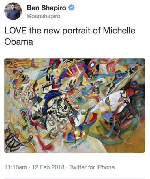 obama portrait tweet