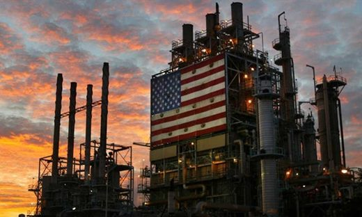 US flag oil crude rig refinery