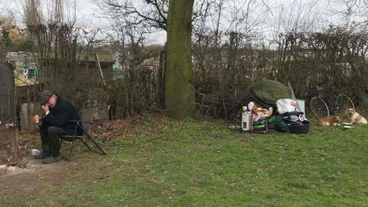 Man evicted from his caravan