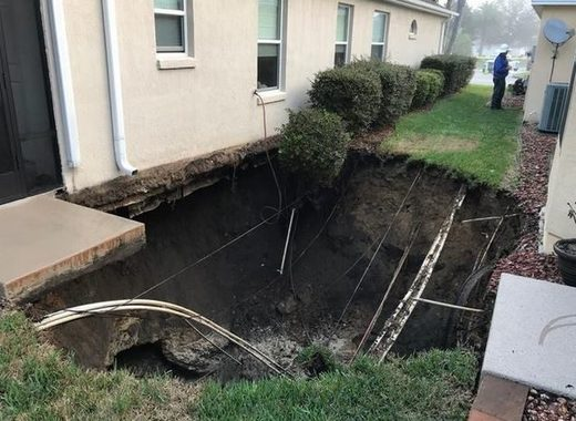 Sinkholes in The Villages, FL
