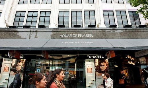 House of Fraser is struggling with heavy debts.