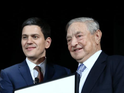 David Miliband George Soros
