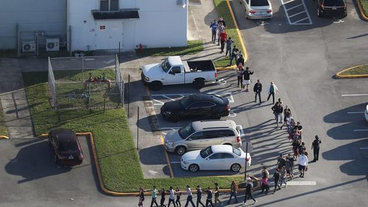 A Florida school shooting