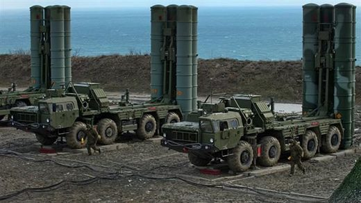Russian-made S-400 surface-to-air missile defense systems