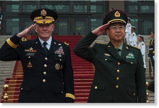 US and Chinese top brass