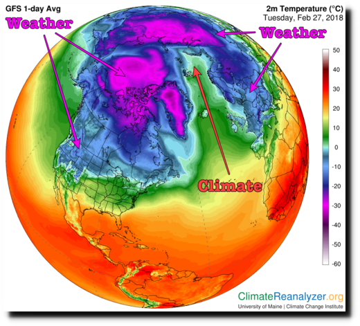 A loop in the jet stream brought record cold to places like Colorado and the UK