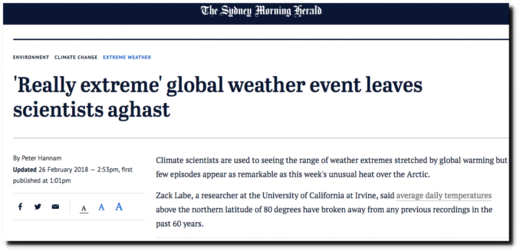 'Really extreme' global weather event leaves scientists aghast