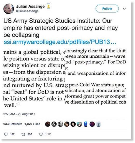 Assange tweet