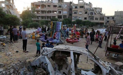 Syria seige citizens playground