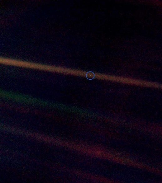 Planet Earth from 3.7 billion miles
