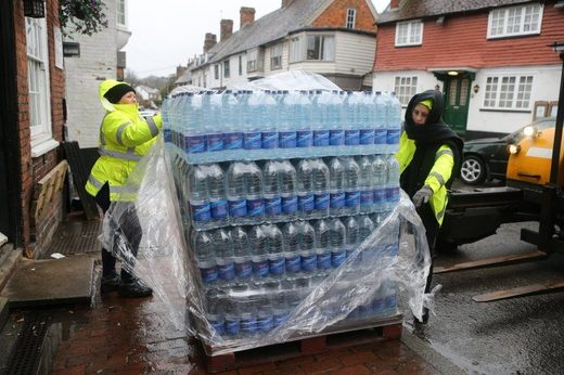 Lots of bottled water was needed in Crowborough