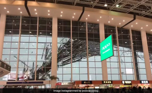 Roof blown off at Nanchang Changbei International Airport