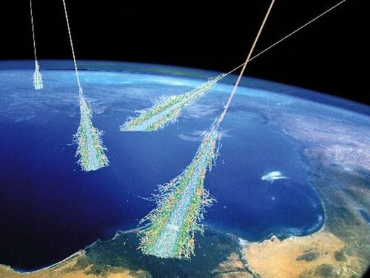 A Cosmic Ray Shower in Earth's atmosphere