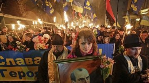 Ukrainian fascism celebrated