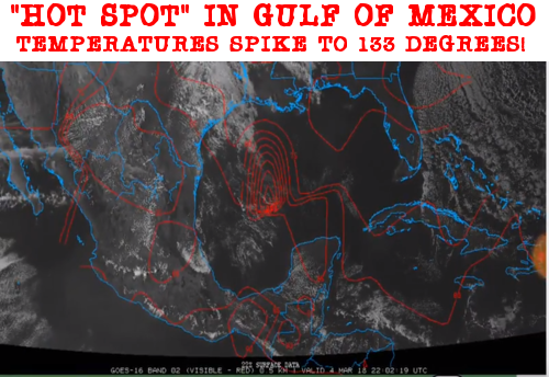 Hot spot in Gulf of Mexico