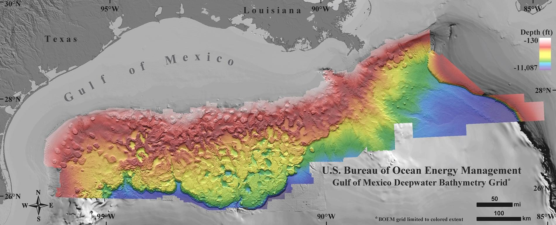 high resolution map floor of the gulf of mexico