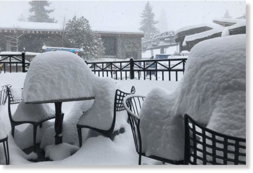 Snow at Squaw Valley, 16th, March