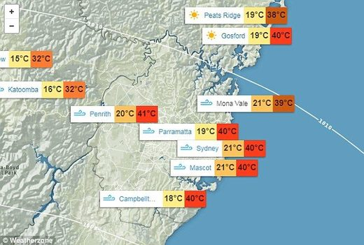 Record high temps in Australia