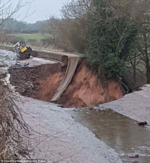 Cheshire canal sinkhole