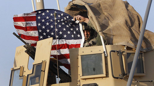 Iraq US soldier American flag