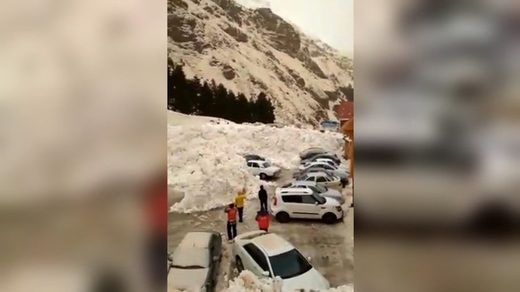 Avalanche in Russia