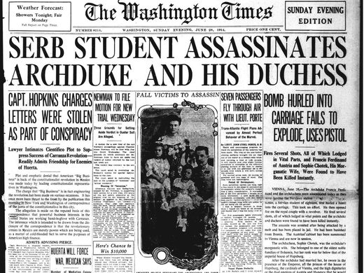 The Washington Times June 28, 1914 - Archduke Ferdinand