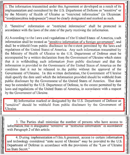 dod agreement chemical weapons agreement Ukraine