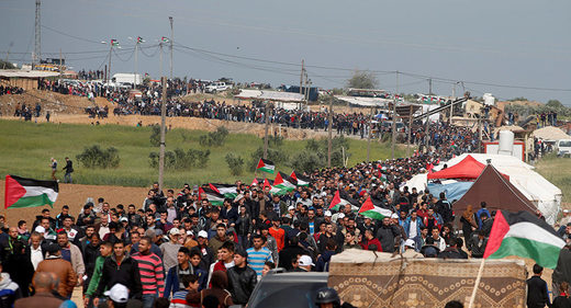 Gaza land day protest