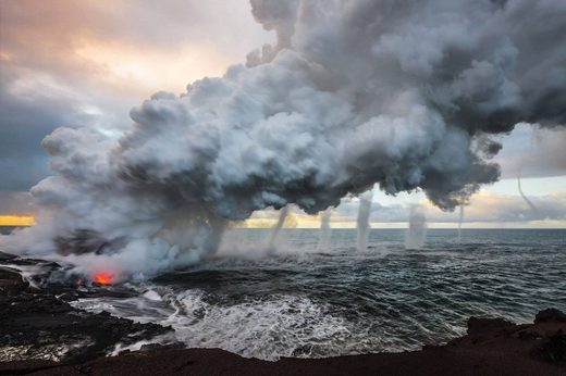Hawaii volcano vortices 2013 Kilauea