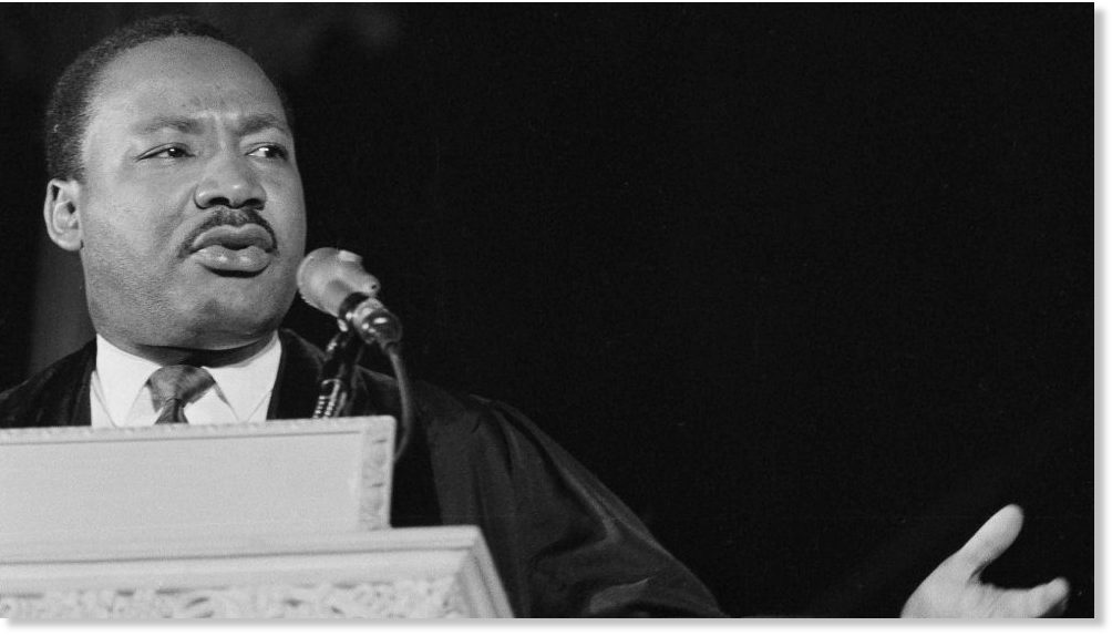 distinctive voice of mlks speech Whenever effective speakers compose a speech they turn instinctively to the conventions of rhetorical devices the success of the speeches by the speakers who have all made use of carefully composed rhetoric to persuade their audience is what makes their speeches powerful and memorable.