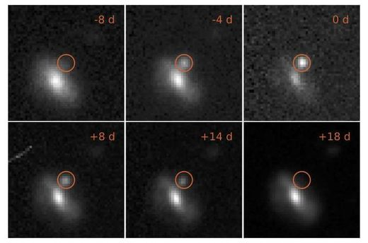 Astronomers find 72 bright flashes