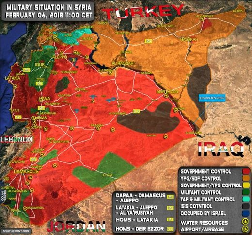 Syria control february 2018