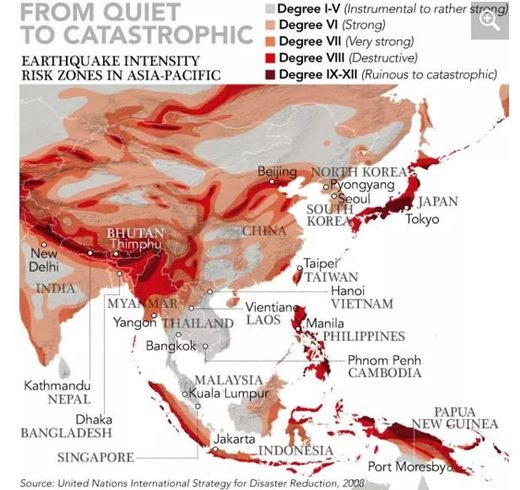 UN earthquake map