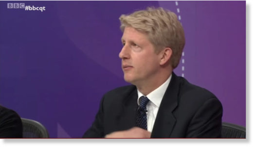 Jo Johnson question Time wire