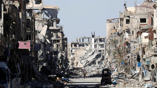 Raqqa, after being retaken from Islamic State, last year