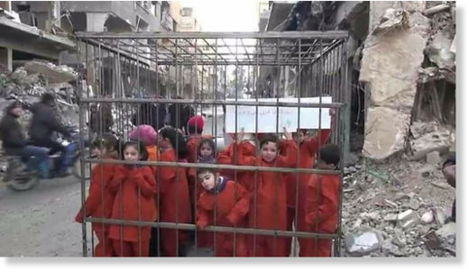 civilians in cages Jaish al Islam Ghouta
