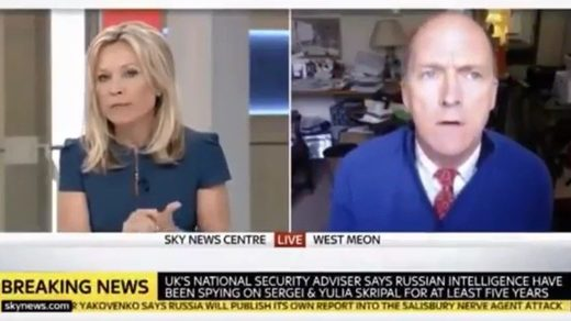 Sky News anchor cuts off British general after he asks 'Why would Syria launch a gas attack now?'
