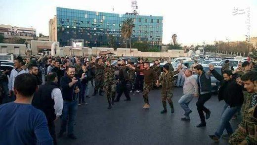 dancing airstrike damascus