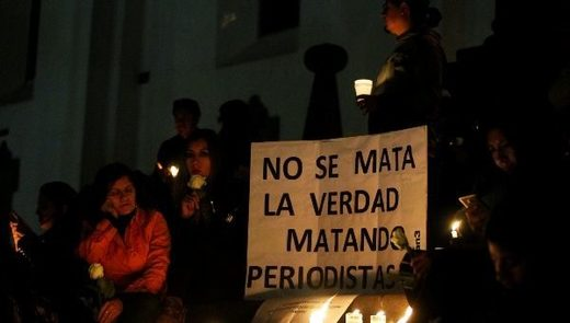 vigil for two Ecuadorean journalists