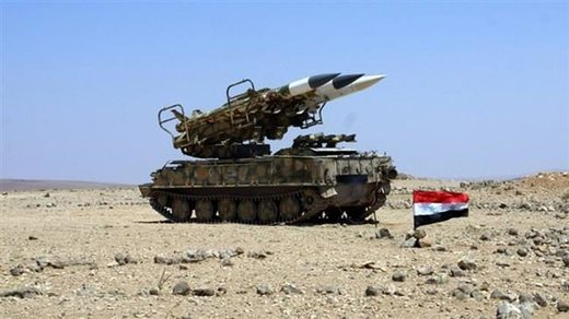 Syrian army defense missile