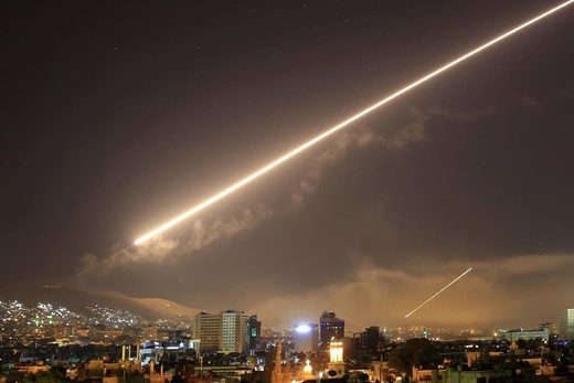 damascus missile defence airstrikes