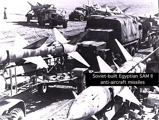 Sam II anti-aircraft missiles