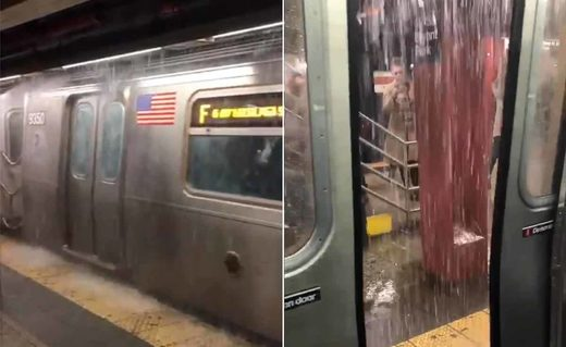 NYC subway flooding