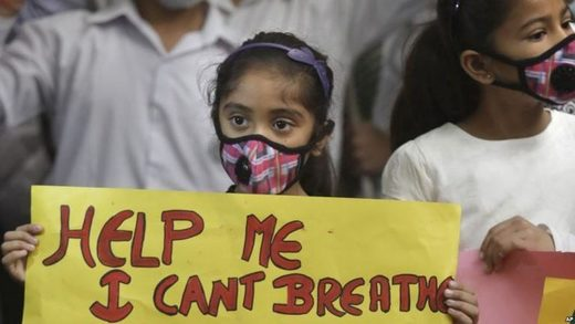 Air pollution protest india