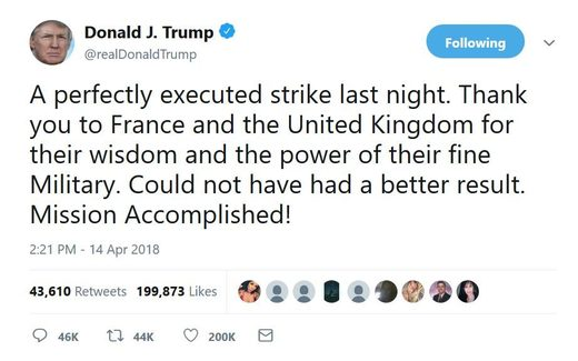 trump mission accomplished